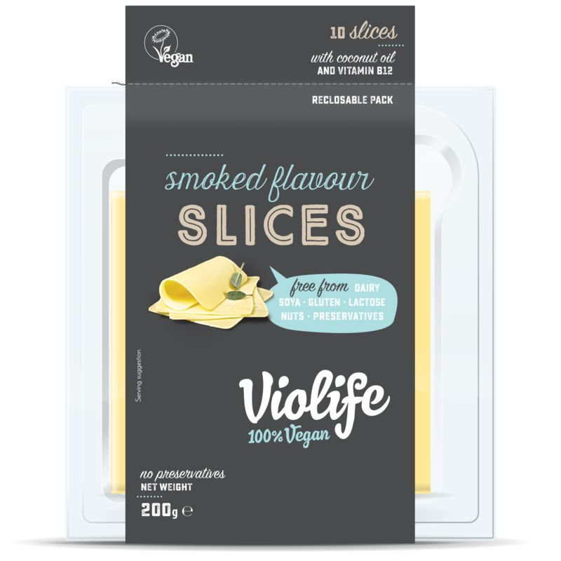 Violife Coconut Cheese Slices Smoked Flavour 200g - Shipping From Just £2.99 Or FREE When You Spend £60 Or More