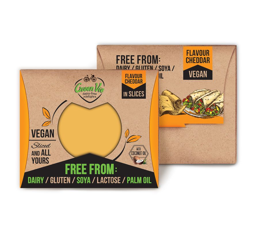 GreenVie Cheddar Slices 180g - Shipping From Just £2.99 Or FREE When You Spend £60 Or More
