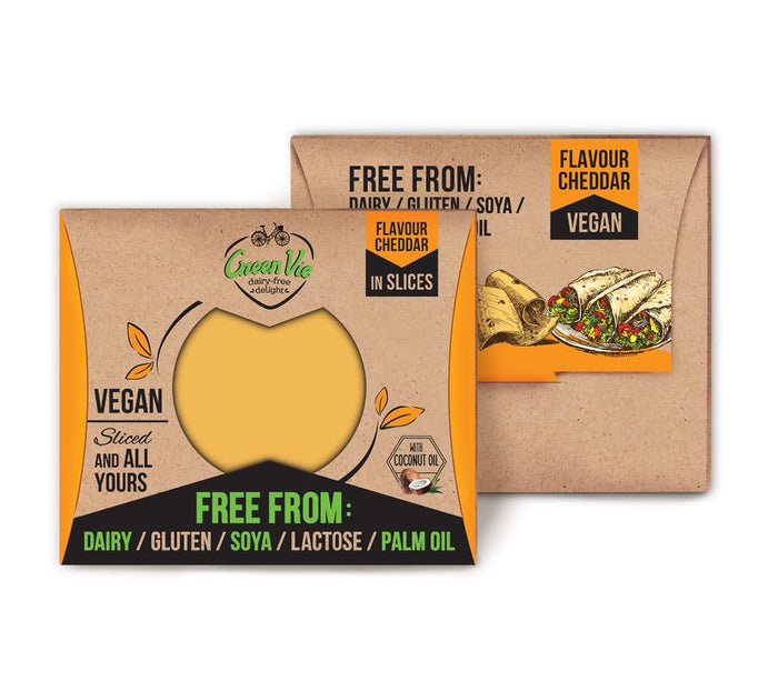 GreenVie Cheddar Slices 180g