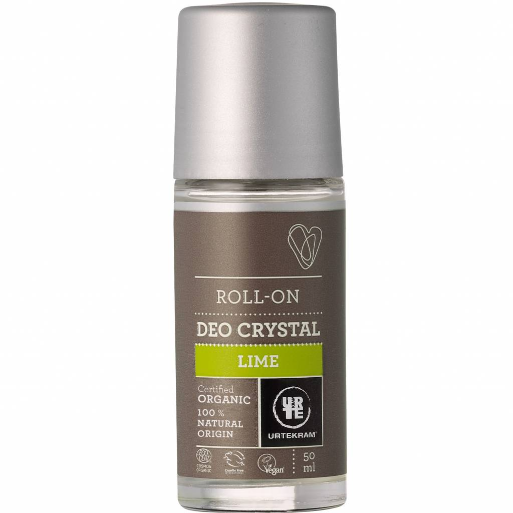 Urtekram Roll On Crystal Deodorant Lime 50ml - Shipping From Just £2.99 Or FREE When You Spend £55 Or More
