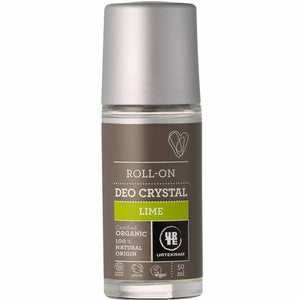 Urtekram Roll On Crystal Deodorant Lime 50ml - Shipping From Just £2.99 Or FREE When You Spend £60 Or More