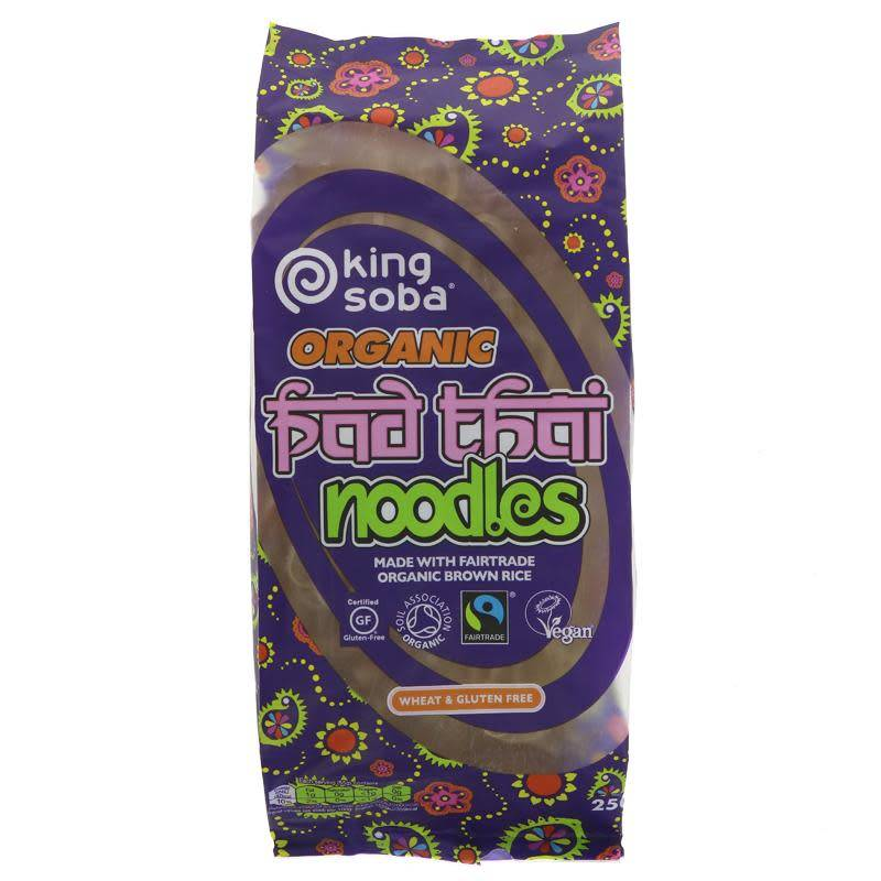 King Soba Pad Thai Noodles Fairtrade 250g - Shipping From Just £2.99 Or FREE When You Spend £60 Or More