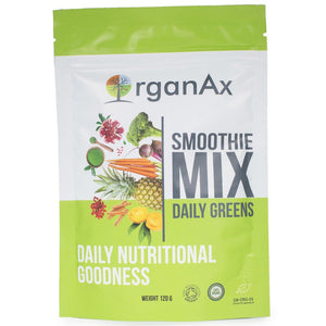 Organax Organic Daily Green Superfood Pouch 120g - Shipping From Just £2.99 Or FREE When You Spend £60 Or More