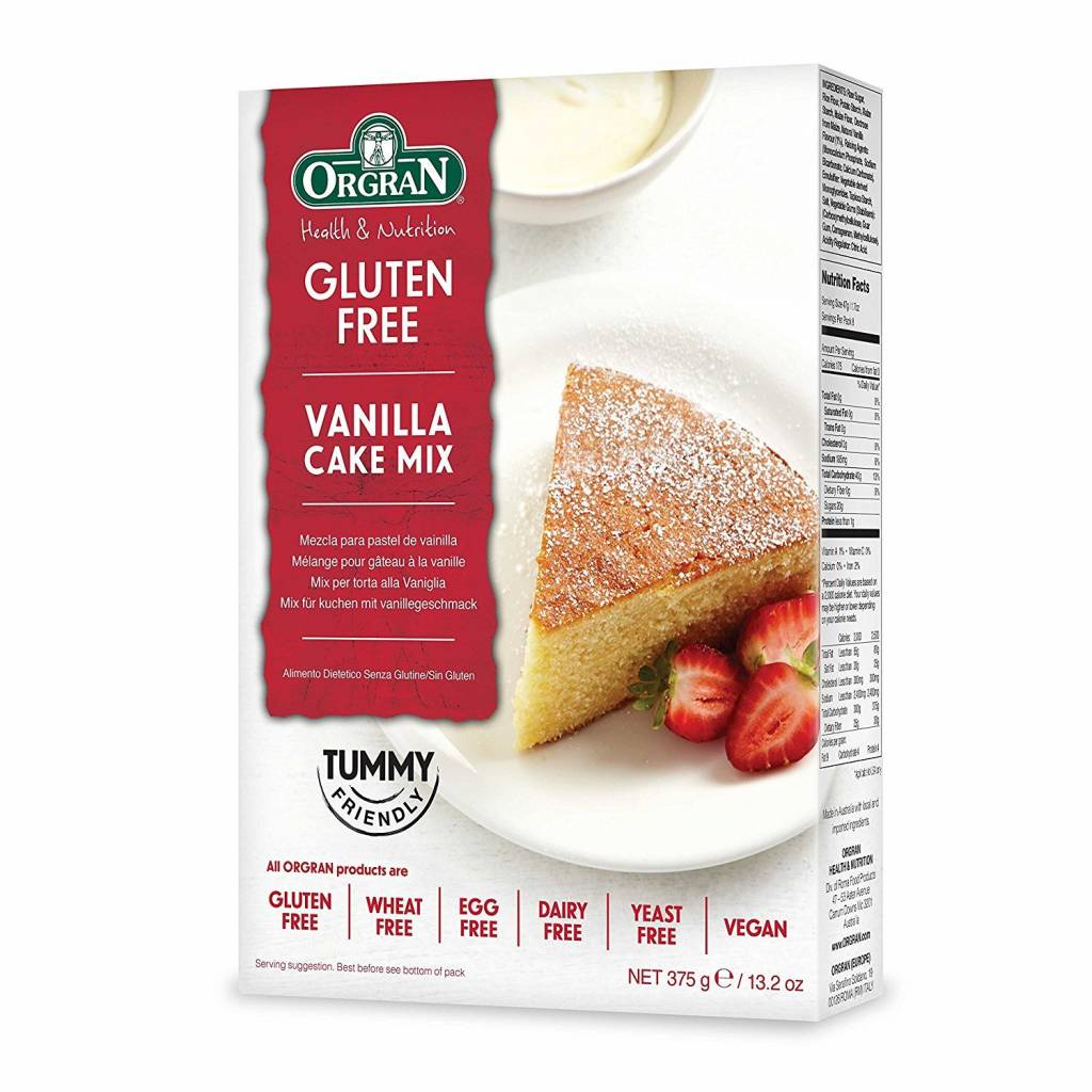 Orgran Vanilla Cake Mix 375g - Shipping From Just £2.99 Or FREE When You Spend £60 Or More