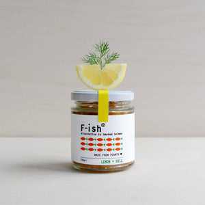 F-ish (Smoked Vegan Salmon) - Lemon + Dill 150g - Shipping From Just £2.99 Or FREE When You Spend £55 Or More