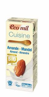Ecomil Almond Cooking Cream 200ml - Shipping From Just £2.99 Or FREE When You Spend £55 Or More