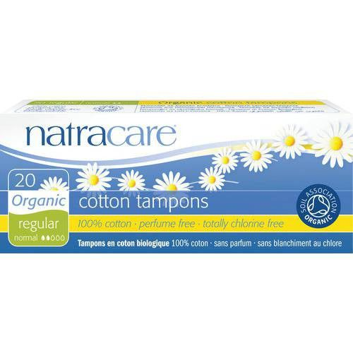 NatraCare Organic Non-Applicator Tampons Regular X 20