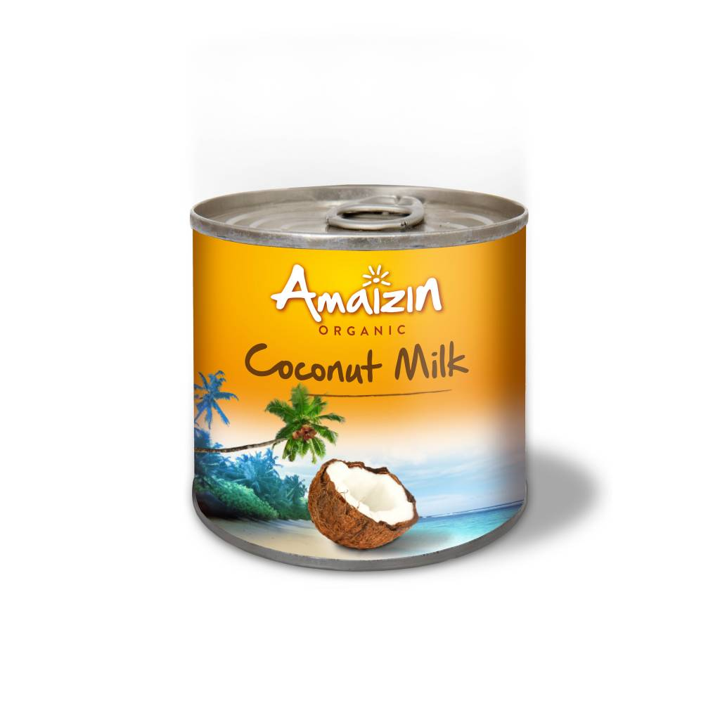 Amaizin Coconut Milk Organic 200ml - Shipping From Just £2.99 Or FREE When You Spend £55 Or More