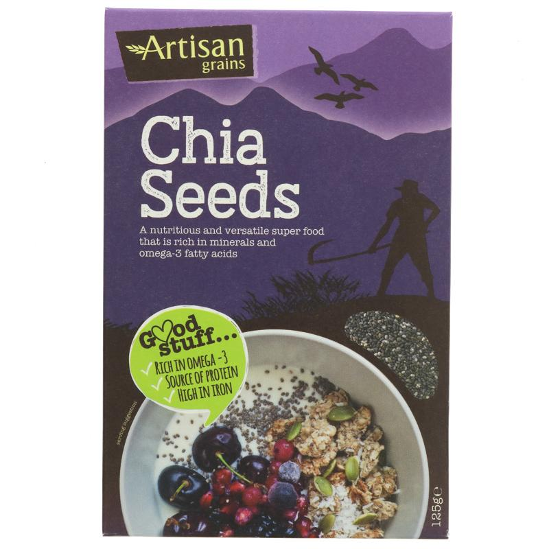 Artisan Grains Chia Seeds - 125g - Shipping From Just £2.99 Or FREE When You Spend £60 Or More