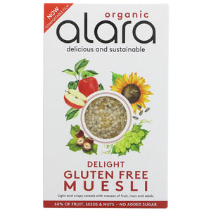 Alara Gluten Free Muesli Organic 250g - Shipping From Just £2.99 Or FREE When You Spend £55 Or More