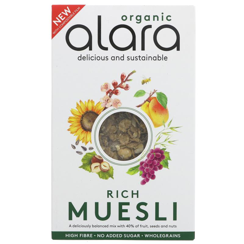 Alara Rich Muesli Organic 500g - Shipping From Just £2.99 Or FREE When You Spend £55 Or More