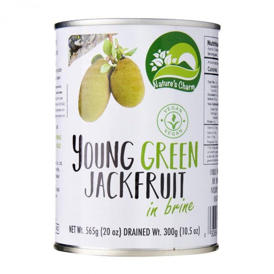 Nature's Charm Young Green Jackfruit in Water 565g - Shipping From Just £2.99 Or FREE When You Spend £60 Or More