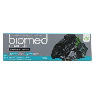 Biomed Toothpaste - Charcoal 100g - Shipping From Just £2.99 Or FREE When You Spend £60 Or More