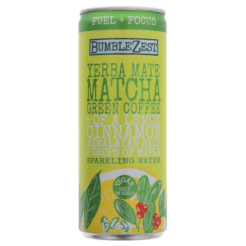 Bumblezest Yerba Mate Matcha & Coffee 250ml - Shipping From Just £2.99 Or FREE When You Spend £60 Or More