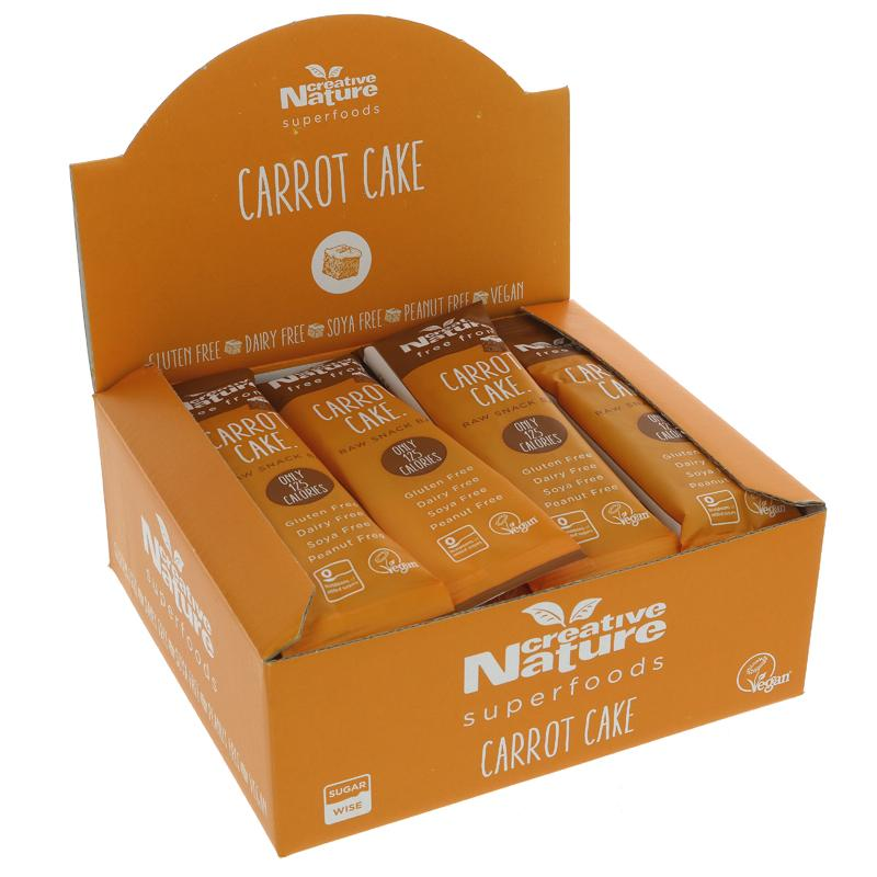 Creative Nature Carrot Cake Raw Snack Bar 38g - Shipping From Just £2.99 Or FREE When You Spend £60 Or More