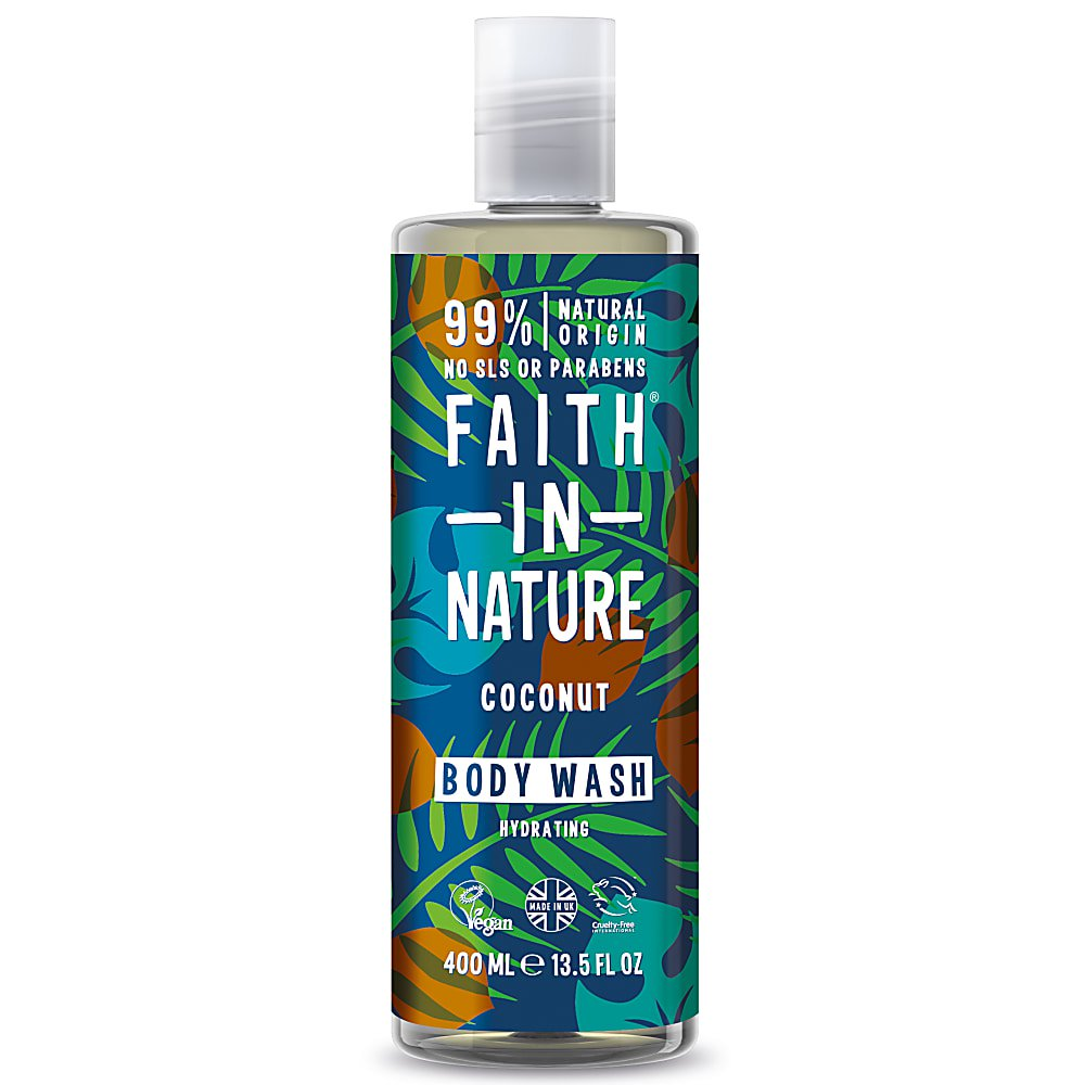 Faith in Nature Coconut Body Wash 400ml - Shipping From Just £2.99 Or FREE When You Spend £55 Or More