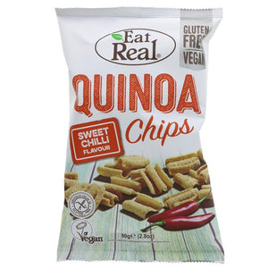 Eat Real Sweet Chilli Quinoa Chips 80g - Shipping From Just £2.99 Or FREE When You Spend £60 Or More