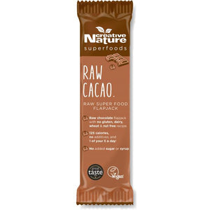 Creative Nature Raw Cacao Superfood Flapjack 38g  - Shipping From Just £2.99 Or FREE When You Spend £60 Or More