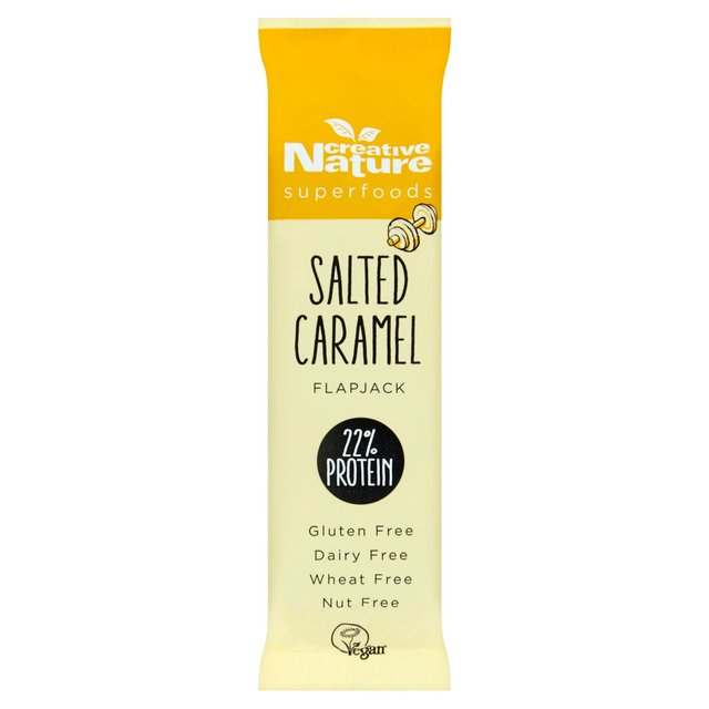 Creative Nature Salted Caramel Flapjack Bar 40g - Shipping From Just £2.99 Or FREE When You Spend £60 Or More