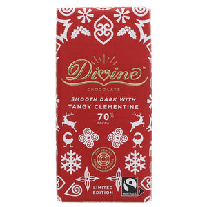 Divine 70% Dark Chocolate with Tangy Clementine 90g