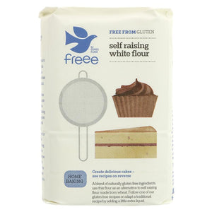 Doves Farm White Self Raising Flour Gluten Free 1kg - Shipping From Just £2.99 Or FREE When You Spend £60 Or More