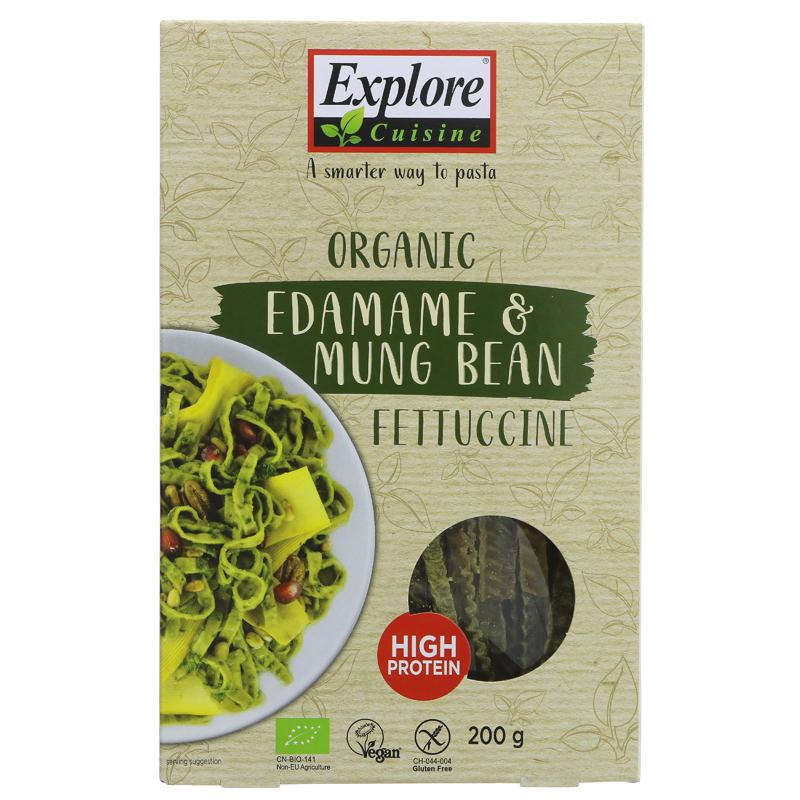 Explore Cuisine Edamame & Mung Bean Fettuccine 200g - Shipping From Just £2.99 Or FREE When You Spend £60 Or More