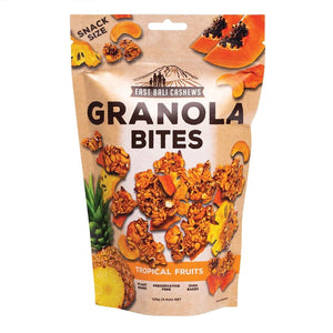 East Bali Cashews Granola Bites Tropical Fruits 125g