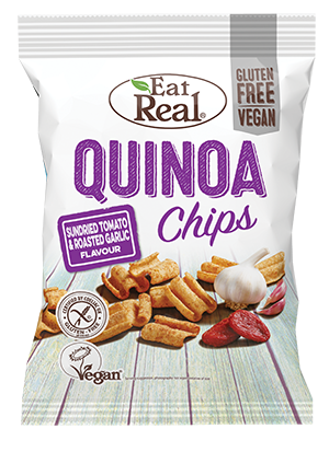 Eat Real Quinoa Sun-dried Tomato & Garlic Chips 80g - Shipping From Just £2.99 Or FREE When You Spend £55 Or More