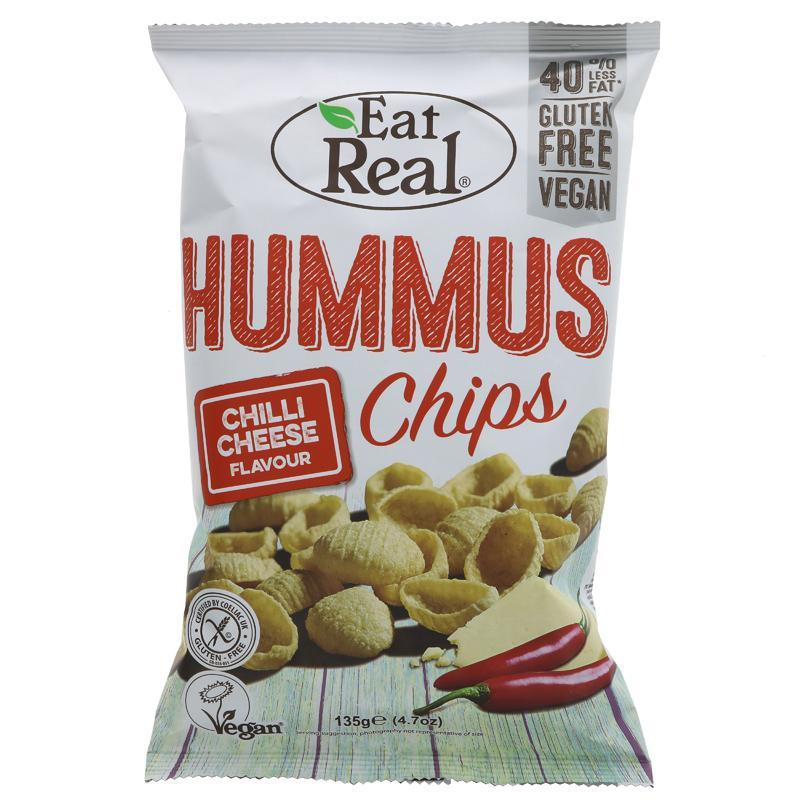 Eat Real Hummus Chilli Cheese Chips 135g - Shipping From Just £2.99 Or FREE When You Spend £60 Or More