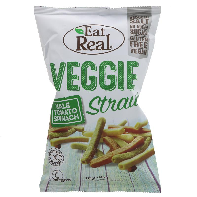 Eat Real Veggie & Kale Straws 113g - Shipping From Just £2.99 Or FREE When You Spend £60 Or More