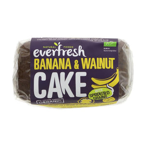 Everfresh Natural Foods Sprouted Banana & Walnut Cake 350g - Shipping From Just £2.99 Or FREE When You Spend £60 Or More