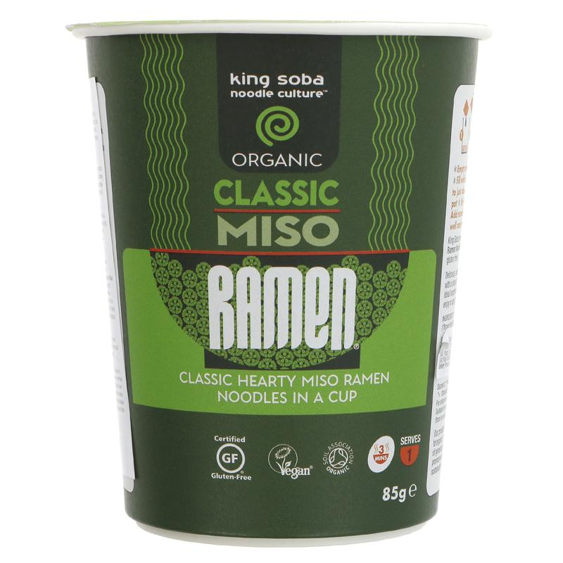 Kingsoba Classic Miso Ramen Cup 85g - Shipping From Just £2.99 Or FREE When You Spend £60 Or More