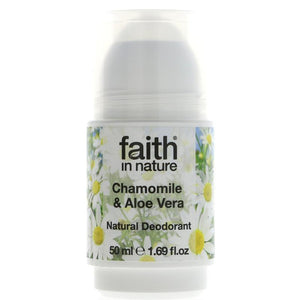 Faith in Nature Aloe & Chamomile Deodorant 50ml - Shipping From Just £2.99 Or FREE When You Spend £60 Or More