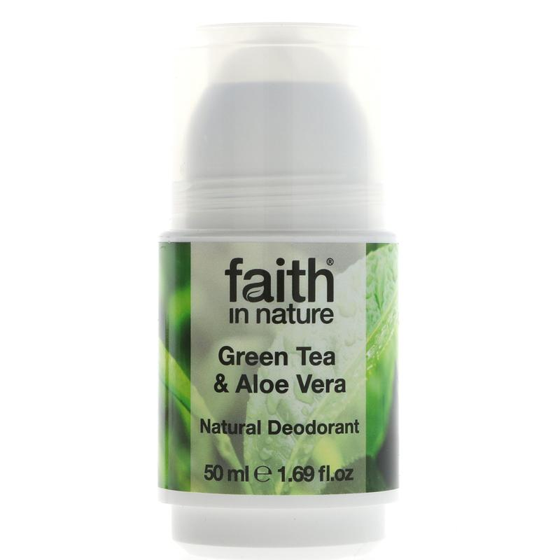 Faith in Nature Aloe & Green Tea Deodorant 50ml - Shipping From Just £2.99 Or FREE When You Spend £60 Or More