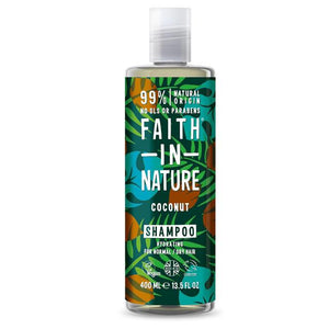 Faith In Nature Coconut Shampoo  400ml - Shipping From Just £2.99 Or FREE When You Spend £60 Or More