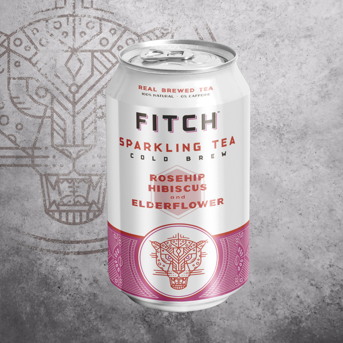 FITCH Cold Brew Sparkling Tea Rosehip Hibiscus & Elderflower - 330ml