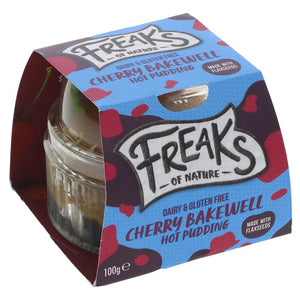 Freaks Of Nature Cherry Bakewell Sponge 100g - Shipping From Just £2.99 Or FREE When You Spend £60 Or More