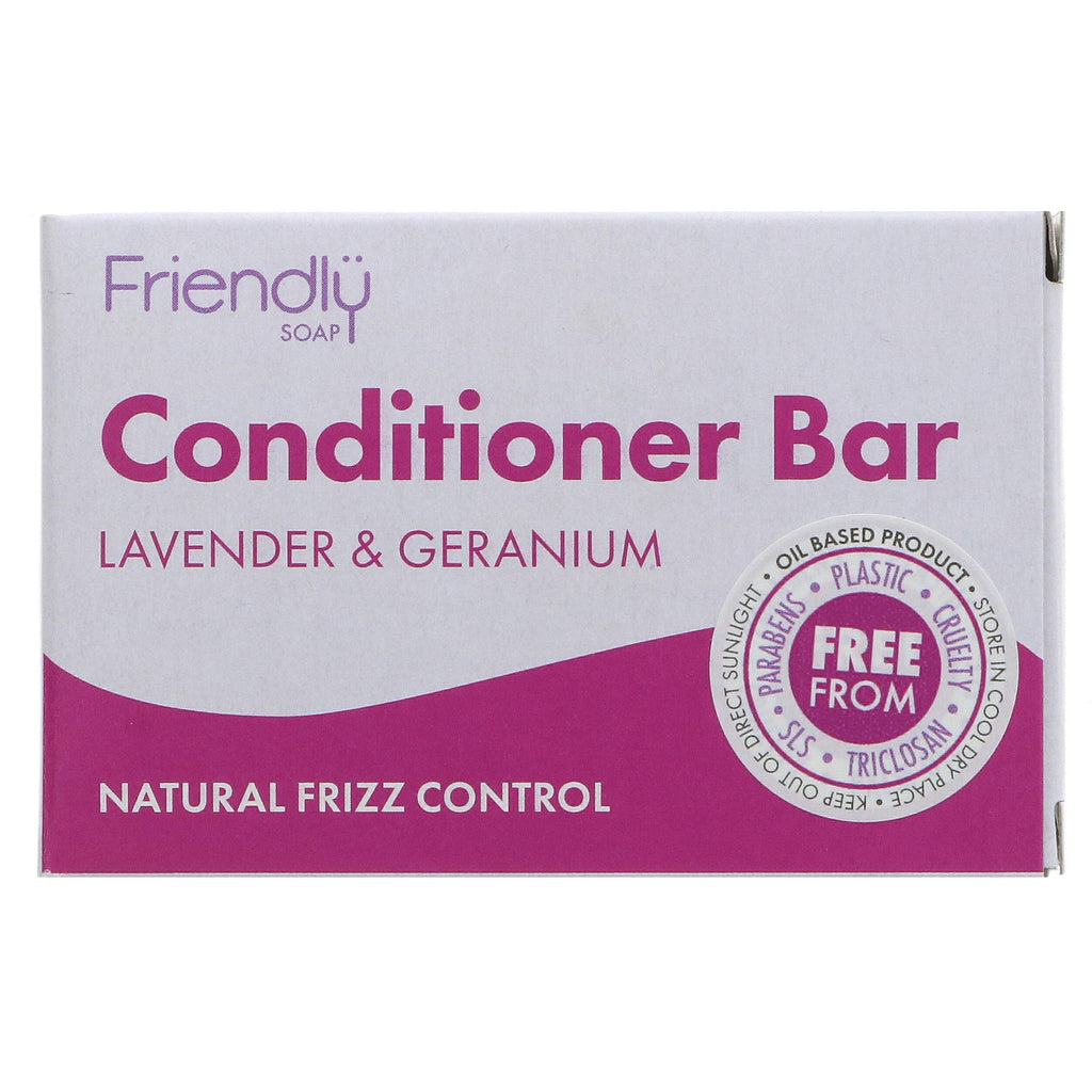 Friendly Soap Lavender & Geranium Conditioner Bar 95g - Shipping From Just £2.99 Or FREE When You Spend £60 Or More