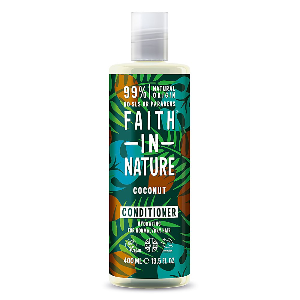 Faith in Nature Coconut Conditioner 400ml - Shipping From Just £2.99 Or FREE When You Spend £60 Or More