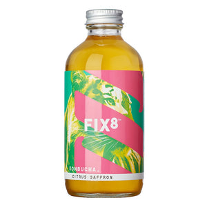 Fix8 Citrus & Saffron Kombucha 240ml - Shipping From Just £2.99 Or FREE When You Spend £60 Or More