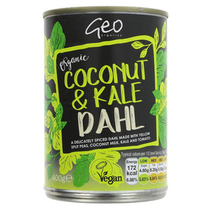 Geo Organics Coconut & Kale Dahl 400g - Shipping From Just £2.99 Or FREE When You Spend £55 Or More