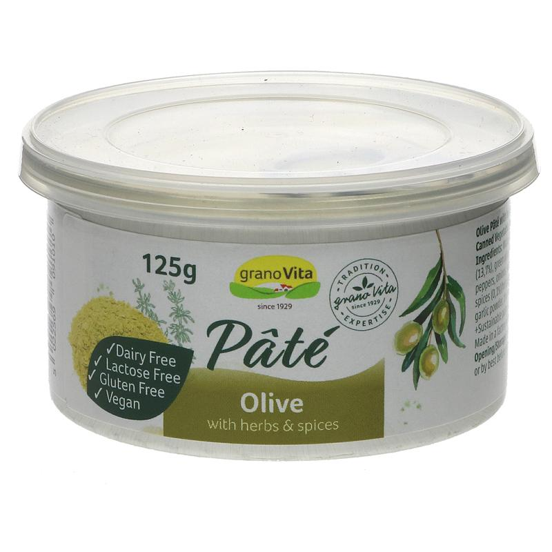 Granovita Olive Pate 125g - Shipping From Just £2.99 Or FREE When You Spend £60 Or More