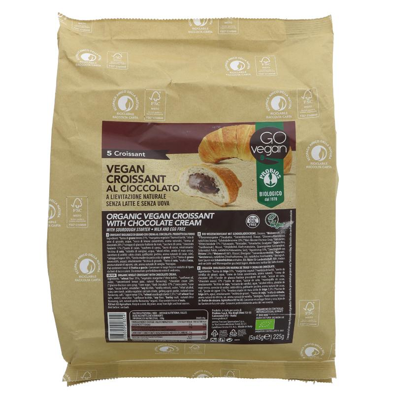 Go Vegan Cocoa Croissant 5x35g - Shipping From Just £2.99 Or FREE When You Spend £60 Or More