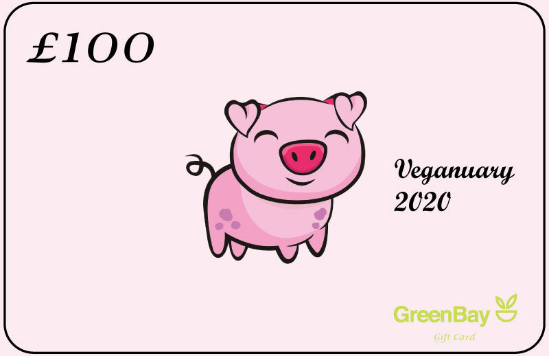 GreenBay Gift Card Piggy Veganuary 2020 - Shipping From Just £2.99 Or FREE When You Spend £60 Or More