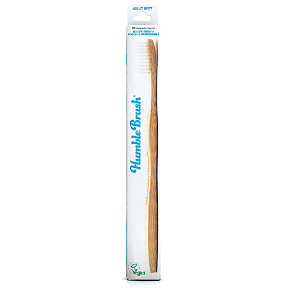Humble Brush Toothbrush Adult Soft White x 1 - Shipping From Just £2.99 Or FREE When You Spend £55 Or More