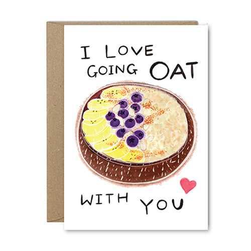 Rose & Daff - I Love Going Oat With You - Shipping From Just £2.99 Or FREE When You Spend £60 Or More