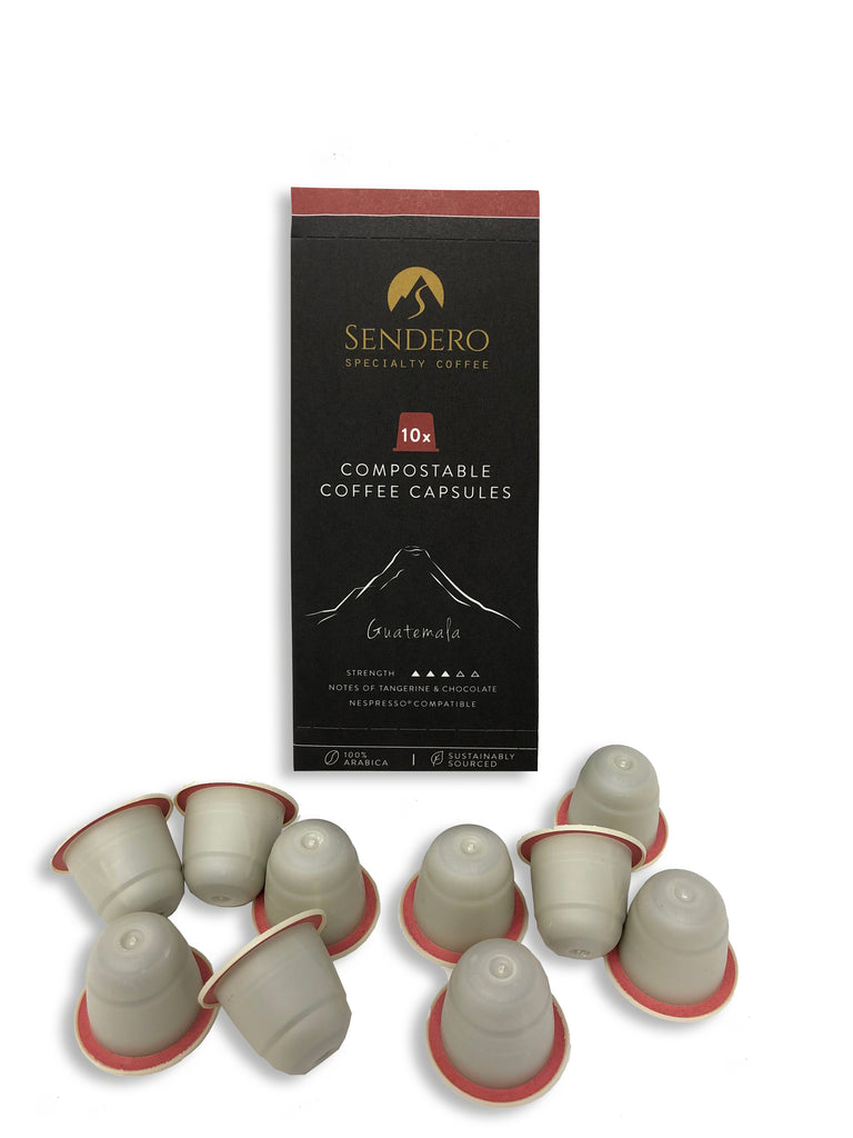 Sendero Compostable Coffee Capsules (10 capsules) - Guatemala - Shipping From Just £2.99 Or FREE When You Spend £60 Or More
