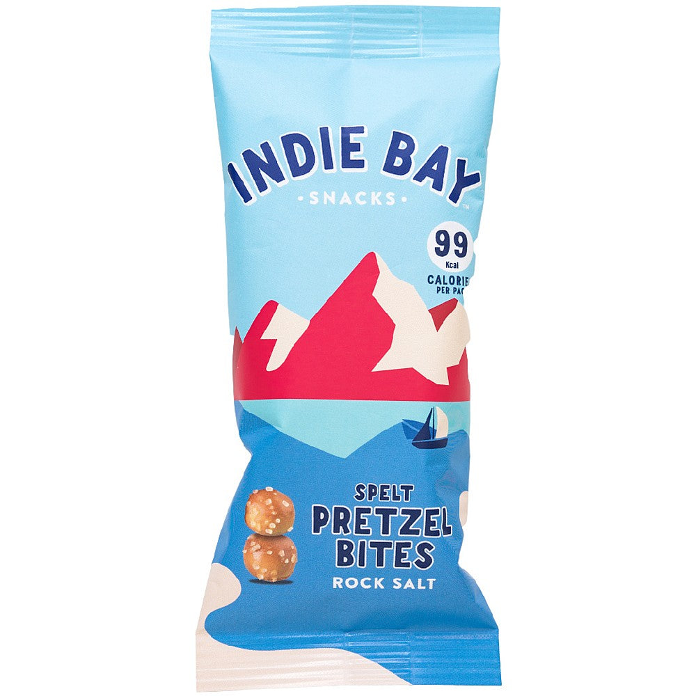 Indie Bay Spelt Pretzel Bites with Rock Salt 26g - Shipping From Just £2.99 Or FREE When You Spend £55 Or More