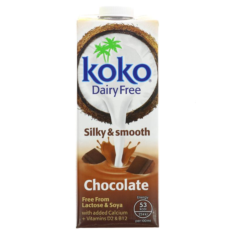 Koko Dairy Free Coconut Milk Drink Chocolate 1L - Shipping From Just £2.99 Or FREE When You Spend £60 Or More