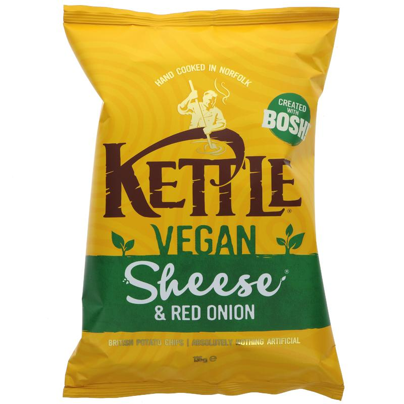Kettle Chips Sheese & Red Onion - Vegan 135g